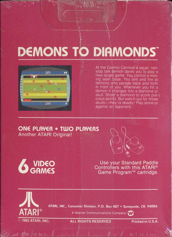 Demons to Diamonds - Box Back