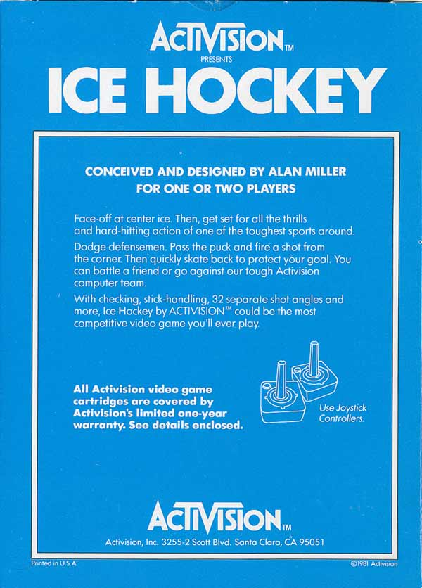Ice Hockey - Box Back