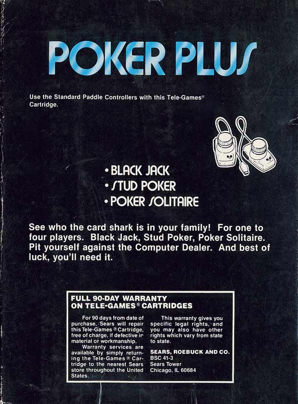 Poker Plus - Box Back
