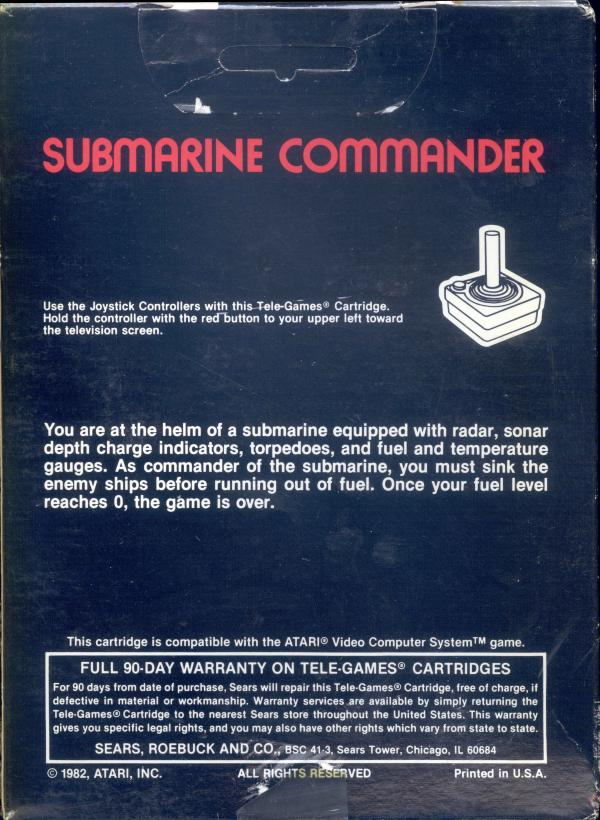 Submarine Commander - Box Back