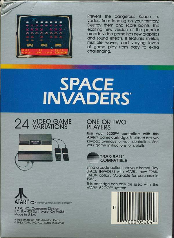 Space Invaders - Box Back
