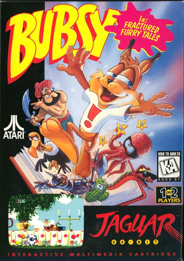 Bubsy: Fractured Furry Tails - Box Front