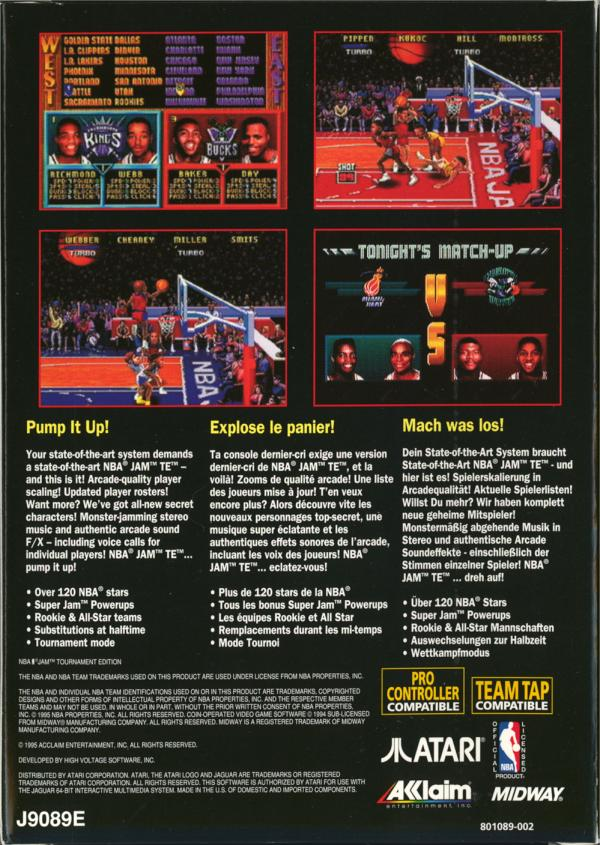 NBA Jam: Tournament Edition - Box Back